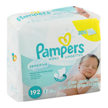 Pampers Wipes Sensitive - 192 CT