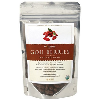 Extreme Health USA Extreme Health's Tibetan Goji Berries, Milk Chocolate, 6-Ounce Pouches (Pack of 2)