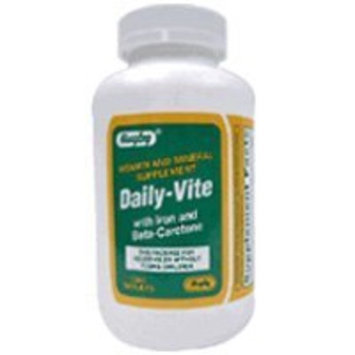 Daily Vitamins Daily - Vite Vitamins Tablets With Iron And Beta Carotene - 1000 Ea