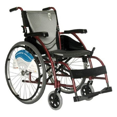 Karman 18 inch Wheelchair with Fixed Armrests and Footrests