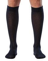 Sigvaris Sea Island Cotton 222CMLM10 20-30mmHg Mens Closed Toe Calf Socks - Navy Medium Large