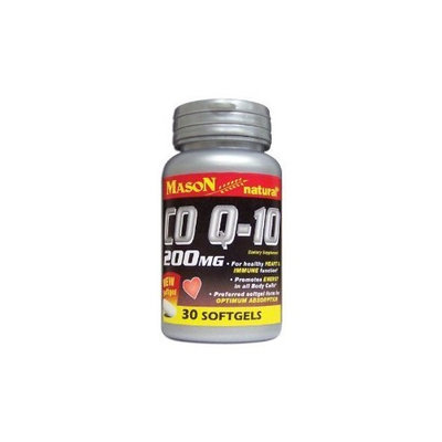 MASON NATURAL - Special - Q-10 CO-ENZYME 200MG SOFTGELS 30 per bottle (SINGLE BOTTLE)