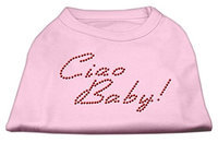 Mirage Pet Products 5220 SMLPK Ciao Baby Rhinestone Shirts Light Pink S 10