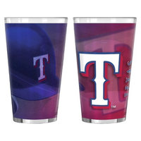 Boelter Brands MLB Rangers Set of 2 Shadow Pint Glass - 16oz