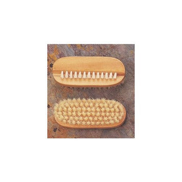 Pendergrass Oval Wooden boar Bristle Nail Brush fingernail cleaner