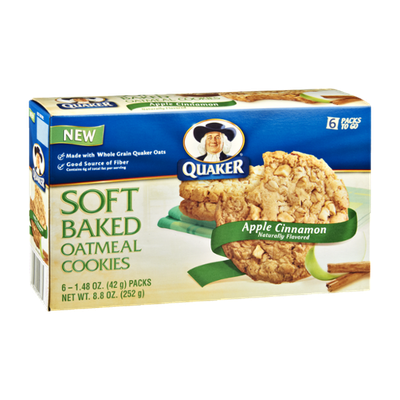 Quaker Life® Apple Cinnamon Soft Baked Oatmeal Cookies - 6 Ct