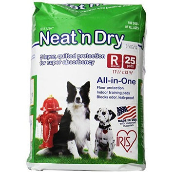 IRIS Neat 'n Dry Floor Protection and Training Pads for Puppies and Dogs