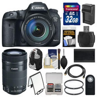 Canon EOS 7D Mark II GPS Digital SLR Camera & EF-S 18-135mm & 55-250mm IS STM Lens with 32GB Card + Backpack + Battery/Charger + Filters Kit