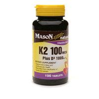 Mason Natural Vitamin K2 100mcg Plus D3 1000 IU