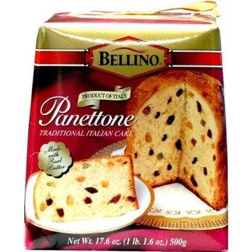 Bellino Traditional Italian Cake, Panettone, 17.64 Ounce (Pack of 12)