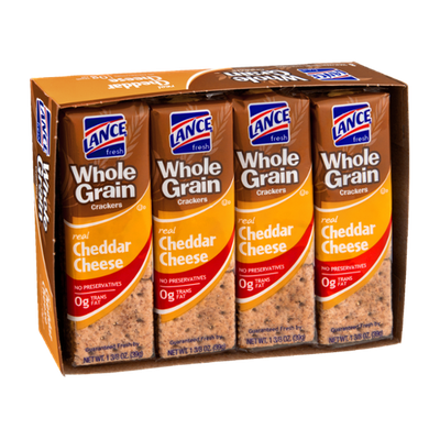 Lance Whole Grain Cheddar Cheese Cracker Packs - 8 CT