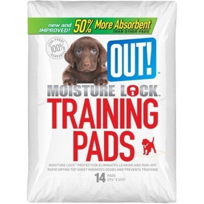 OUT! Moisture Lock Training Pads (Pack of 14), 21 x 21