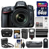 Nikon D610 Digital SLR Camera Body with 28-300mm VR AF-S Lens + 64GB Card + Case + Flash + Battery & Charger + Filter Kit