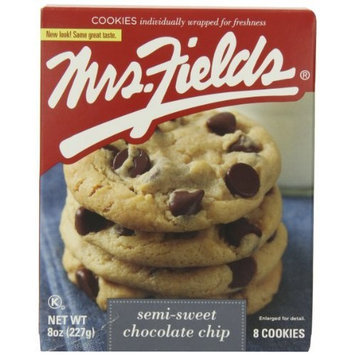 Mrs. Fields Cookies, Semi-Sweet Chocolate Chip, 8-Ounce (Pack of 6)