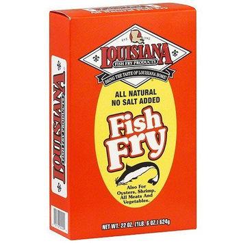 LOUISIANA Fish Fry Products Fish Fry All Natural Corn Flour Fish Fry Salt Free 22 oz (Box)