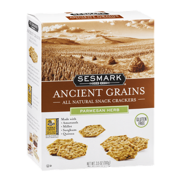Sesmark Ancient Grains Snack Crackers Parmesan Herb