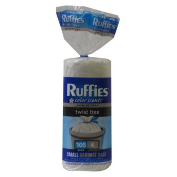 Ruffies Jasmine Gray Scent Small Kitchen Bags with Twist Tie 105 ct