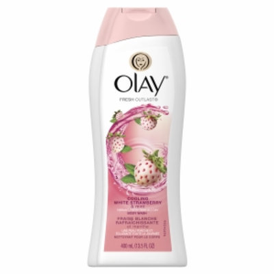 Olay Fresh Outlast Body Wash, Cooling White Strawberry & Mint, 13.5 fl oz
