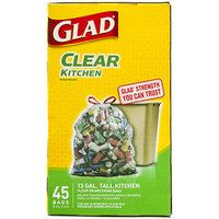 Glad Clear Kitchen Drawstring Recycling Bags
