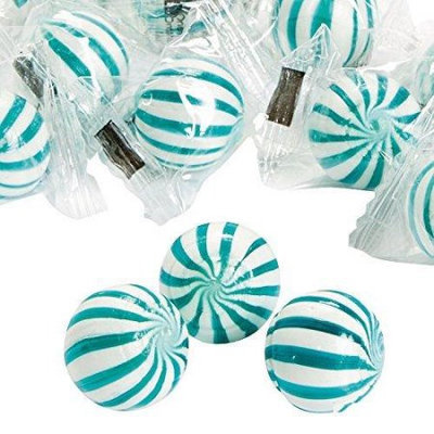 Fun Express 13663466 Blue Striped Hard Candy Balls