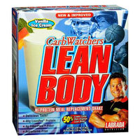 Labrada Nutrition CarbWatchers Lean Body Hi-Protein Meal Replacement Shake Powder 20 Pack Vanilla Ice Cream