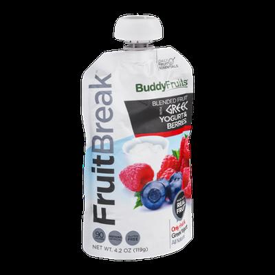 Buddy Fruits FruitBreak Blended Fruit with Greek Yogurt & Berries