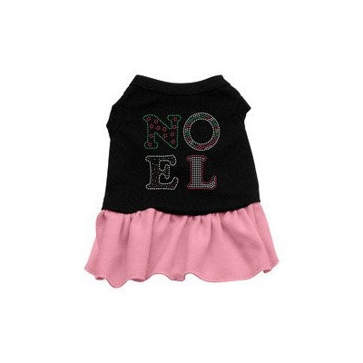 Mirage Pet Products Noel Rhinestone Dress Black with Pink XXL (18)