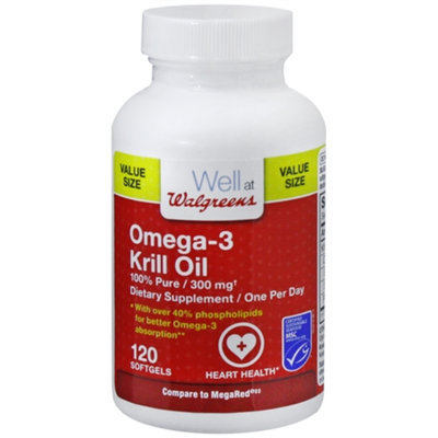 Walgreens Omega 3 Krill Oil 300 Mg Softgels