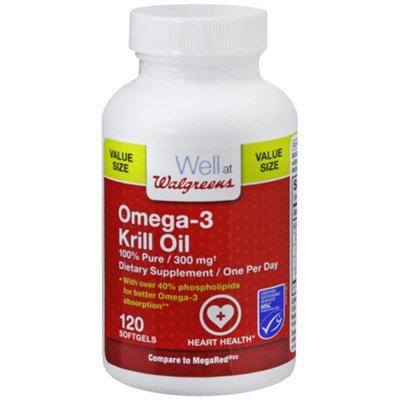 Walgreens Omega 3 Krill Oil 300 Mg Softgels