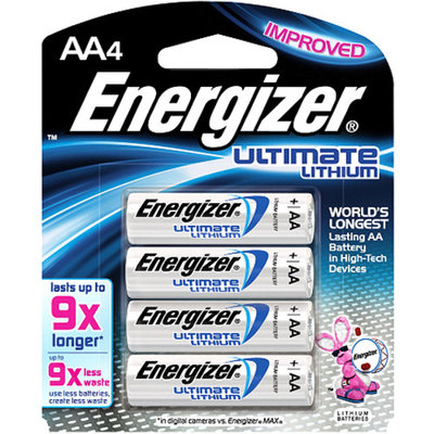 Energizer e2 AA Lithium Batteries 4-Pack