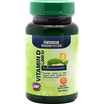 BETANCOURT ESSENTIALS Betancourt Essentials Vitamin D, 100 Tablets - 1,000 IU