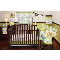 Crown Crafts Baby Looney Tunes - Nature's Fantasy 4pc Crib Bedding Collection Set - Value Bundle