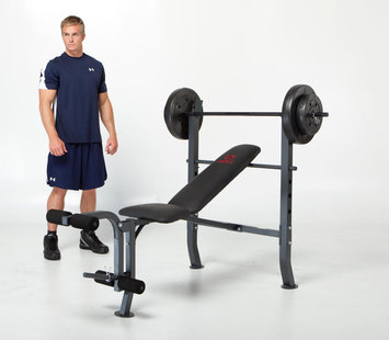 Marcy Diamond Standard Bench with 80 lb. Weight Set