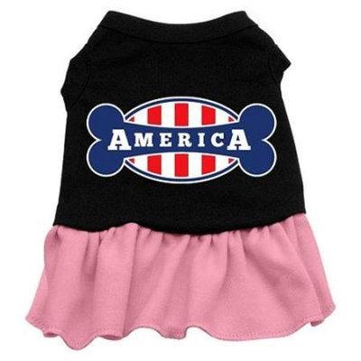 Ahi Bonely in America Screen Print Dress Black with Pink XL (16)