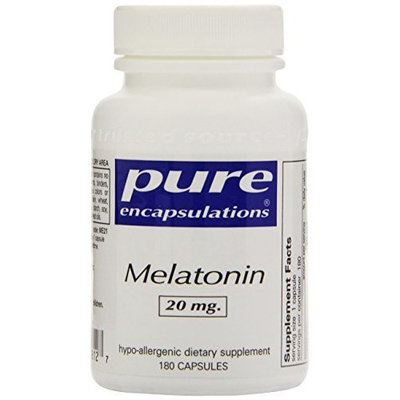 Pure Encapsulations - Melatonin 20 mg. 180's (Premium Packaging)