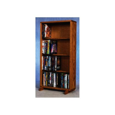Wood Shed 18.25 in. 4 Row Dowel DVD Tower (Clear)