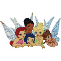 Wright's Wrights Disney Tinker Bell Iron On Applique Fairy Group 5 1/2