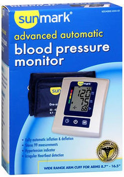 Sunmark Advanced Automatic Blood Pressure Monitor, 1 Each