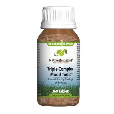 Native Remedies Triple Complex Mood Tonic Tablets, 360-Count Bottle