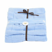 Piccolo Bambino Knitted Cotton Checker Blanket