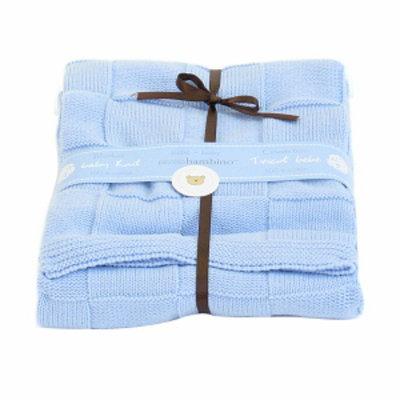 Piccolo Bambino Knitted Cotton Checker Blanket