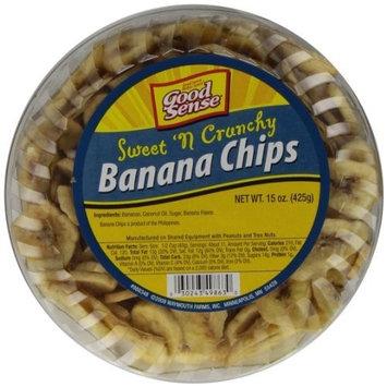 Good Sense Banana Chips, 15-Ounce Tubs (Pack of 8)