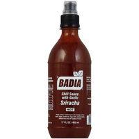 Badia Hot Sriracha Chili Sauce with Garlic, 17 fl oz, (Pack of 6)