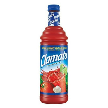Clamato Juice, 33.81-Ounce Bottles (Pack of 12)