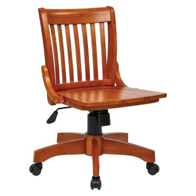 Furniture Standalone Seating: Office Star Armless Wood Banker s Chair