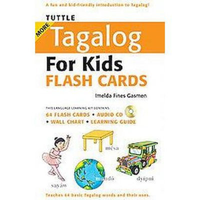Tuttle More Tagalog for Kids Flash Cards (Bilingual) (Mixed media