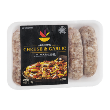 Ahold Premium Italian Sausage Cheese & Garlic - 6 CT