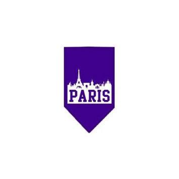 Ahi Paris Skyline Screen Print Bandana Purple Large