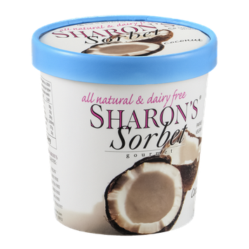 Sharon's Gourmet Sorbet Coconut All Natural & Dairy Free