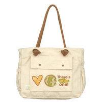 Dandelion Organic Canvas Tote, Love Earth